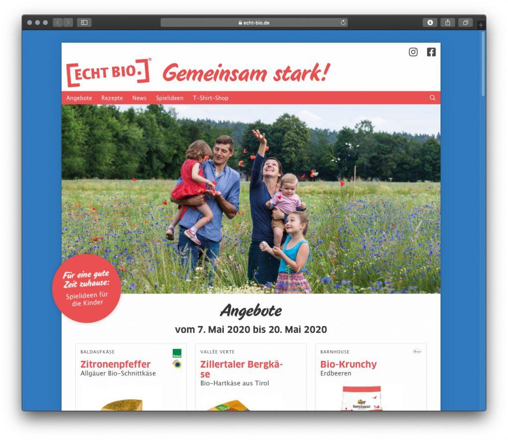 Ansicht echt-bio.de